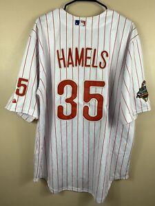 Cole Hamels #35 Philadelphia Phillies 2008 World Series Majestic Jersey Mens 52