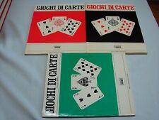 (Berretta e Costa) Giochi di carte 1979 Librex 3 vol.