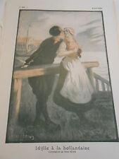 1913 Original Print  Idylle à la Hollandaise composition de rené Péan