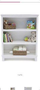 Delta Children Epic 3-Tier Kids Bookshelf, White