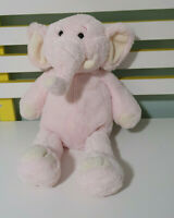 PINK ELEPHANT PLUSH TOY TOYS R US STUFFED ANIMAL 38CM