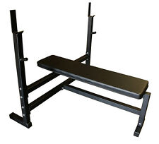 Olympic Flat Weight Bench with 300lb Olympic Weight Set