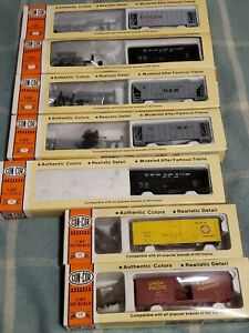 7 New Con-Cor Rolling Stock Train Cars Assorted train cars Rare box cars&more!!