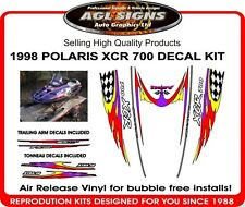 1998 POLARIS INDY XCR 600 HOOD DECALS with trailing arms and tonneau graphics