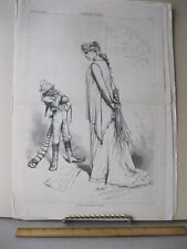 Vintage Print,SOLID DEFIANT AS EVER,Oct 1880,Th.Nast,Harpers,Political Cartoons