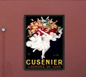 Cusenier Liqueur Advertising Print Vintage Poster, Vintage Wall Decoration,