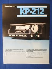 Pioneer KP-212 Cassette Sales Brochure Factory Original The Real Thing