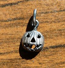 Piccola zucca di halloween ciondolo in ARGENTO 925 Brunito sterling silver