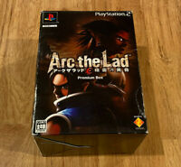 Arc the Lad Collectors PREMIUM BOX Limited Edition PS2 PlayStation 2,SEALED GAME