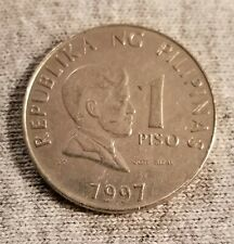 1997 Philippines 1 Piso Coin, Excellent Condition