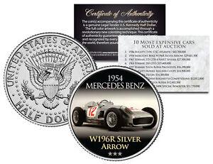 1954 MERCEDES BENZ Expensive Auction Car JFK Half Dollar Coin W196R SILVER ARROW