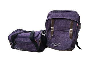 Schulrucksack Set 2Teile Mädchen 4you Lila mit passender Sporttasche Schulranzen