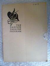 1931 Phoenix Theatre Programme LATE NIGHT FINAL-Raymond Massey,L Hampton,A  L Re