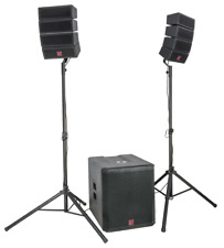 "BST HELIOS2.1 LINE ARRAY Aktiv Lautsprecher Set 18"" Subwoofer DJ EVENT USB MP3"
