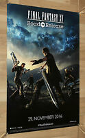 Final Fantasy XV 15 Road to Release / Kingsglaive rare Promo Poster 60x42cm