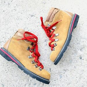 Northwest Territory Men's Vintage Hiking Mountain Boots Size 5 Red Laces