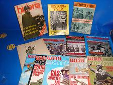 Lote de revistas HISTORIA MILITAR / WAR MONTHLY/HISTORIA Y VIDA-12 REVISTAS