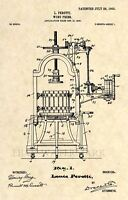 Official Wine Press US Patent Art Print - Vintage 1903 Antique - Original 193