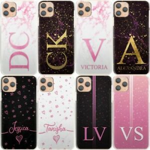 Personalised Initial Phone Case, Pink Star Marble Hard Cover For Nokia 1/2/3/6
