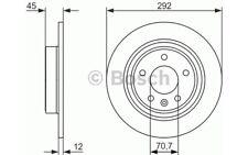 BOSCH Juego de 2 discos freno 292mm RENAULT CLIO VOLKSWAGEN GOLF 0 986 479 646