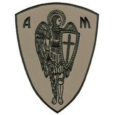 VEGASBEE® ARCHANGEL ST.MICHAEL CROSS SHIELD PROTECTION PATCH DESERT TAN VELCRO®