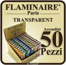 ACCENDINI FLAMINAIRE TRANSPARENT Colorati PIETRINA 1 BOX 50 PEZZI Economici