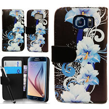 Floral Wallet PU Leather Case Cover Pouch For Samsung Galaxy S6 SM-G920