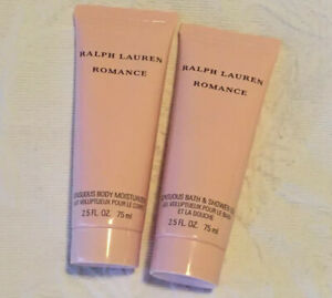Ralph Lauren Romance Bath & Shower Gel Plus Moisturiser Both 75ml