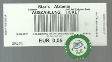 Star's Casino Alžbětín 2.5 Euro Chip + Cash out ticket / voucher Czech Republic