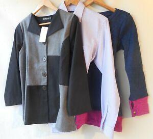 Bulk lot new 3 items size 10 clothing NWT black blue tops mixed women