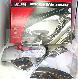 HONDA VT1100 VT 1100 SHADOW ACE SABRE CHROME SIDE COVERS 1999 - 2008
