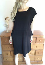 Lovedrobe @ Simply Be Plus Size 24 Black Peplum DRESS Party Occasion Flattering