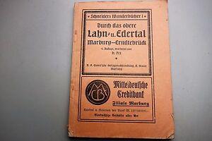 Schneiders Wanderbücher - Lahntal + Edertal 1922 Marburg Erndtebrück Reiseführer