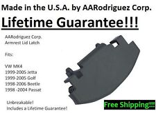 Grey - Genuine AARodriguez Armrest Lid Latch fits VW Golf, Jetta, Beetle, Passat