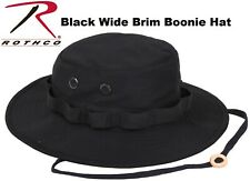 Black Military Police Tactical Wide Brim Bucket Camping Hunting Boonie Hat 5803