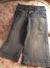 No Boundaries sz 5 Juniors Womens Capris Jeans Denim Pant Wide Leg FREE SHIPPING