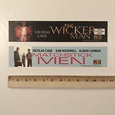 Matchstick Men & Wicker Man Movie Mylar Poster 2 Set - Nicolas Cage