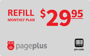 PagePlus  Prepaid $29.95 3GB Refill Top-Up Prepaid Card ,PIN / RECHARGE