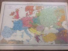 1942 Vintage John Bartholomew Atlas Map 14.75� Europe Ethnography & Population