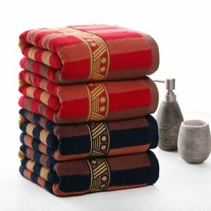 Thickened Large Striped Bath Towels Set Quick-Dry Compressed Bathroom Face Towel