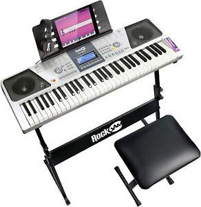 E-Keyboard RockJam RJ661-SK Musik Instrument Digital Piano 54 Tasten OVP fehltz