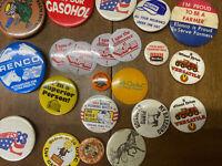Vintage Lot Of 20 Farm Theme Pins Back Buttons