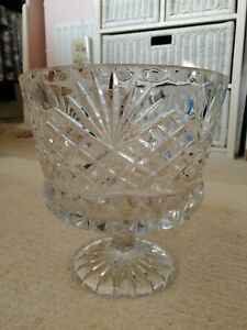 Large Glass Footed Triffle Fruit Bowl