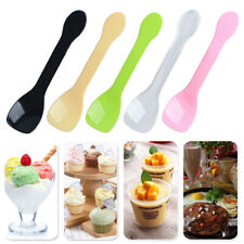 100x Ice Cream Yogurt Spoons Colored Plastic Birthday Party Tableware Disposable
