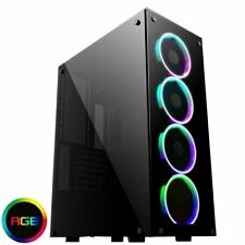 Game Max Predator RGB Full Tower ATX Gaming PC Case Tempered Glass EATX LED Fans