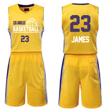 JAMES 23, LOS ANGELES LA - KID YOUTH BASKETBALL JERSEY SET (1)