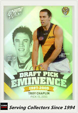 2013 Select AFL Prime Draft Pick Eminence Card DPE74 Troy Chaplin (Richmond)