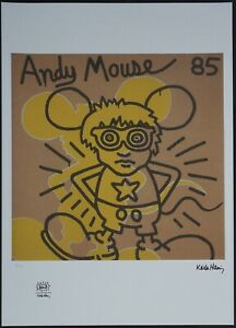 #11/150 Keith Haring Untitled Signed Limited Lithograph 50 x 70 cm