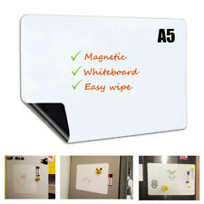 A5 Magnetic Whiteboard Fridge Magnets Home Dry Wipe Marker Eraser Record Board