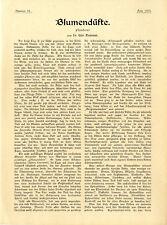 Il dottor Udo Dammer fiori profumi e piante profumi Histor. documento di testo 1901